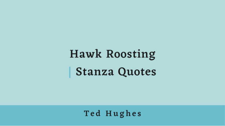 Hawk Roosting | Stanza Quotes
