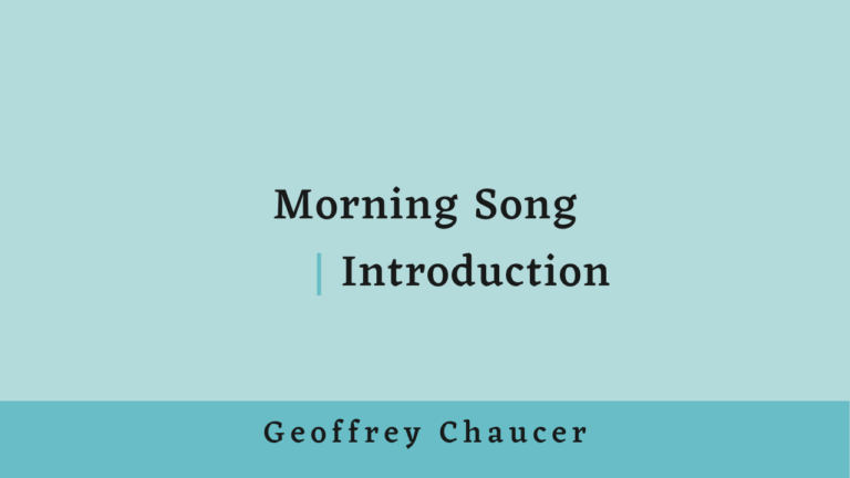 Morning Song | Introduction
