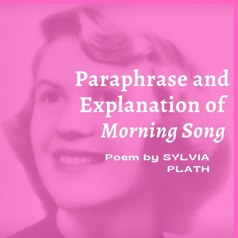 Morning Song: Paraphrase and Explanation