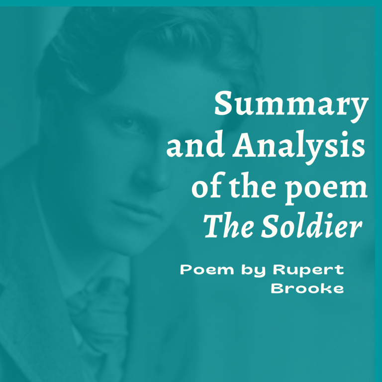 The Soldier: Summary and Analysis