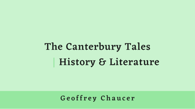 The Canterbury Tales | History and Literature