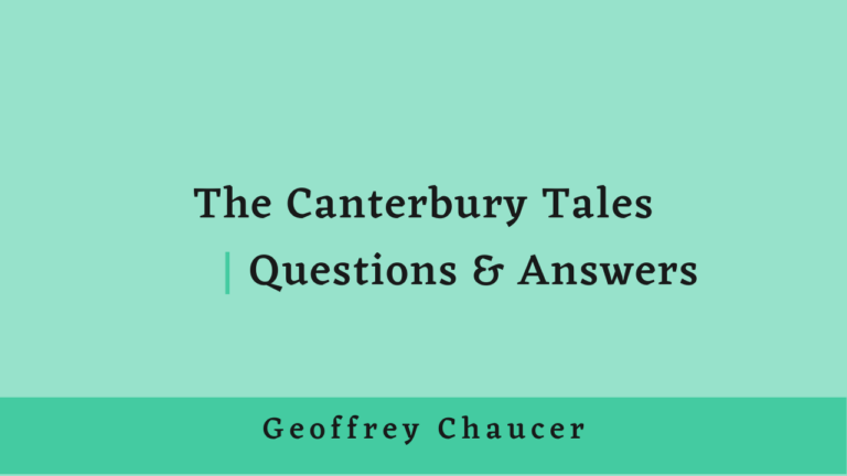 The Canterbury Tales | Questions & Answers