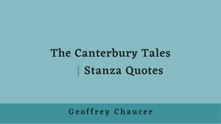 The Canterbury Tales | Stanza Quotes