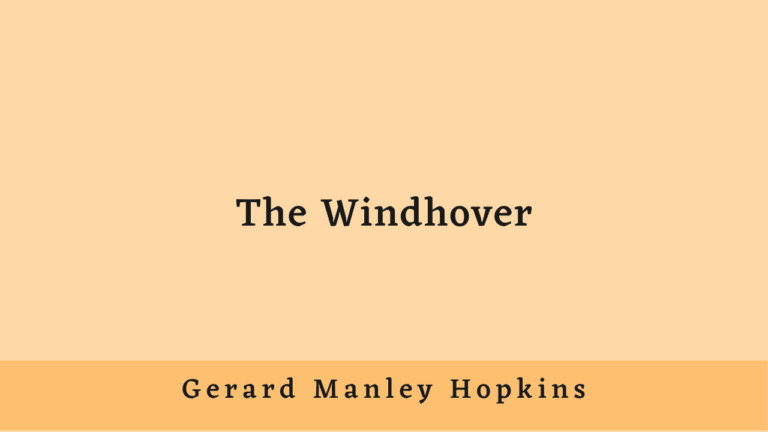 The Windhover  | Stylistic Analysis